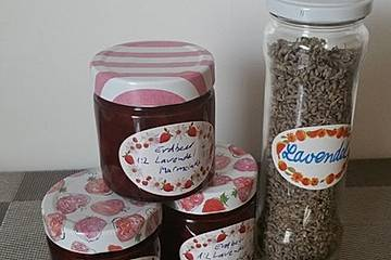 Erdbeer-Lavendel-Marmelade