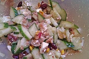 Schneller Salat mit Thunfisch