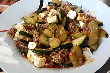 Rezept mit zucchini reis und feta