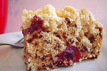 Schoko-Kirsch-Kuchen mit Streuseln