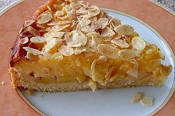Apfelkuchen mit Puddingguss