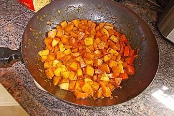 Kürbispfanne à la Mamma mit Apfelstücken