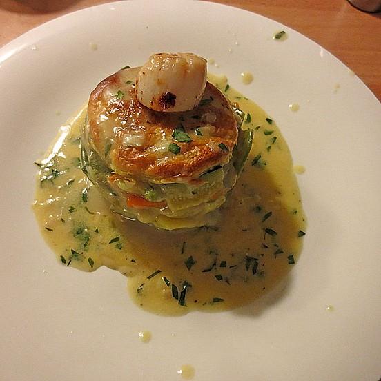 9a6fe712ab Millefeuille von Gemüse mit Jakobsmuscheln und Sauce Bercy von Mathias56 |  Chefkoch
