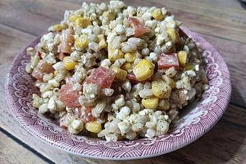 Eblysalat mit Hüttenkäse