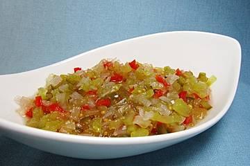 Amerikanisches Gurkenrelish für eine Hamburger Sauce