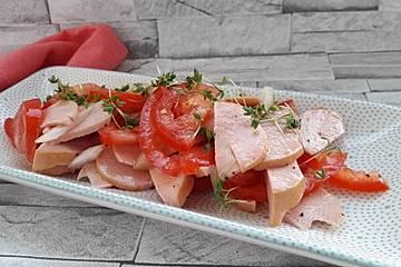Tomaten-Fleischwurst-Salat