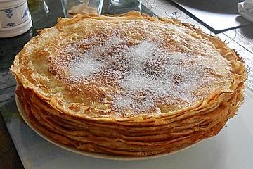 Eierkuchen bzw. Pfannkuchen im Omelett Meister