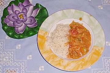 Anjas buntes Curry-Gemüse mit Reis