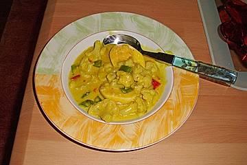 Anjas Curry-Eier Gemüse