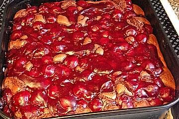 Schoko-Kirsch Kuchen mit Chilinote