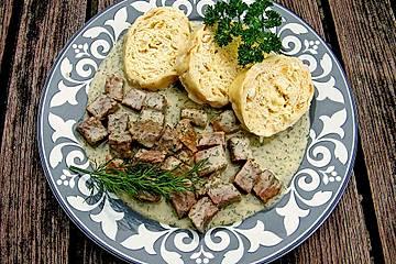 Böhmisches Rindfleisch mit Dillsauce
