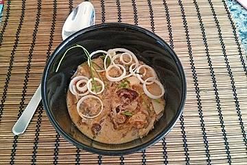 Sauerkraut-Hackfleisch mit Trockenpflaumen