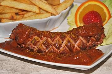 Don Diegos schnelle Currywurst-Sauce, chunky-style