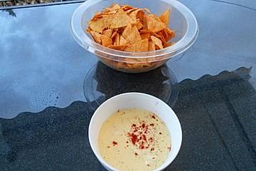 Käse Dip für Nachos
