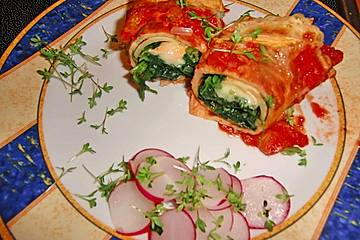 Spinat-Käse-Palatschinken