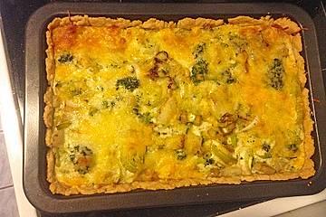 Brokkoli-Porree-Kohlrabi-Quiche