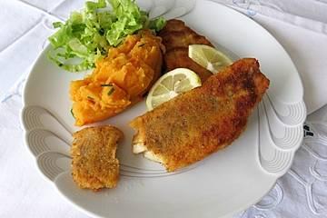 Süßkartoffeln-Ingwer-Karotten-Stampf