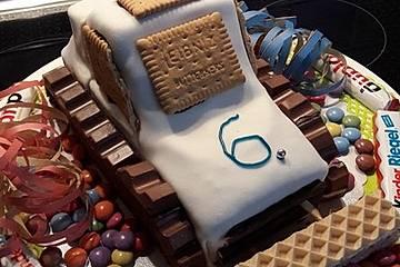 Bagger Planierraupe - Kuchen für den Kindergeburtstag