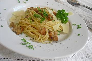 Spaghetti auf sizilianische Art