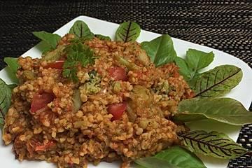 Tomaten-Couscous mit Brokkoli