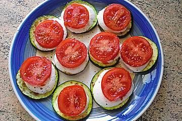 krümeltigers gebratene Zucchinischeiben