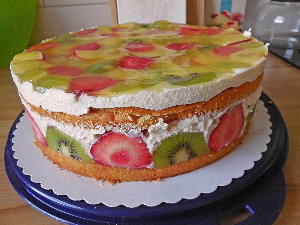 Torte Mit Frischem Obst Rezepte Chefkoch De