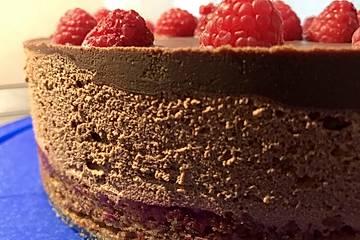 Mousse au Chocolat-Himbeer-Tarte