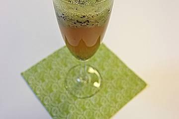Alkoholfreier Bier-Cocktail mit Kiwi