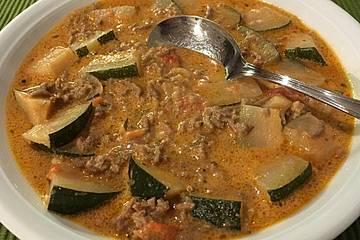 Zucchini hackfleisch suppe rezept