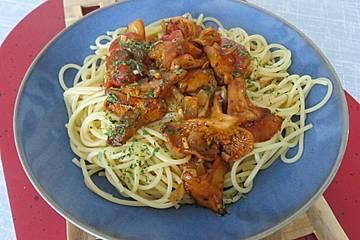 Michis Spaghetti Aglio e Olio mit Pfifferlingen