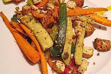 Mediterranes Gemüse mit Tofu