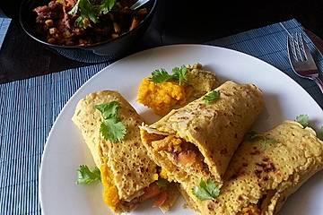 Vegane Tortilla-Wraps mit Kürbis-Guacamole