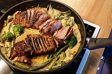 Entenbrustfilets mit Panang Curry
