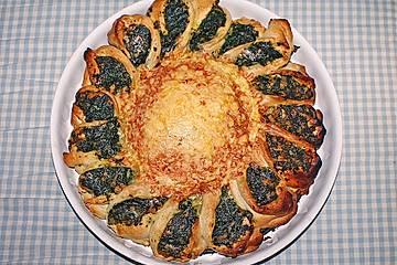 Spinat-Käse-Blume