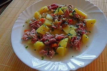"""Eisbein-Kartoffel-Topf für """"Eisbein-Feiglinge"""""""