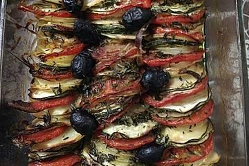 Zucchini-Tomaten Gratin