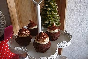 Schoko-Lebkuchen-Cupcakes mit leckerer Mascarponecreme