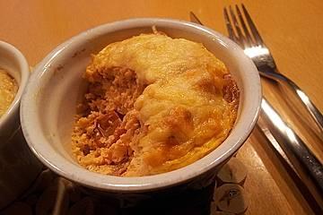 Linsenpudding mit Ricotta und Tomaten