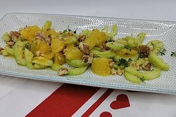 Smokeys Gurken-Orangen-Salat