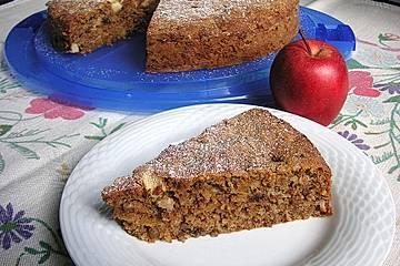 Weihnachtlicher Apfel-Kürbis-Kuchen
