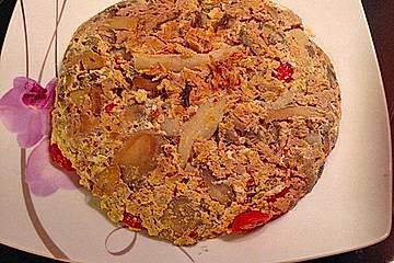 Omelett mit Thunfisch und Gemüse