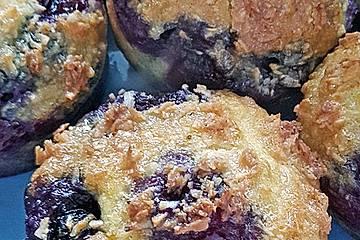 Kokosmuffins mit Blaubeeren