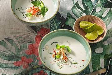 Karibische Shrimps - Kokos Suppe
