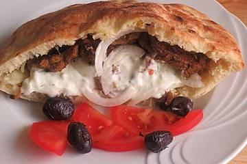 Griechisches Gyros Pita-Brot