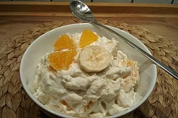 Kokos-Orangen-Quark mit Banane