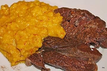Oberpfälzer gekochtes Rindfleisch mit Safran-Semmelkren