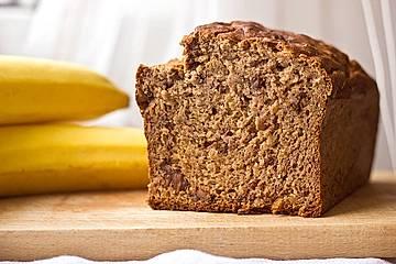 Bananenbrot ohne extra Fett und Zucker