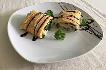 Low Carb Käse-Schinken-Röllchen