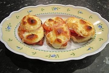 Gratinierte Käse- Schnitzelchen
