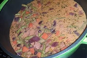 Rüben-Bohnen-Suppe